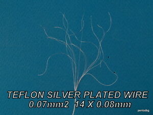 100m 0 07mm2 29awg Silver Plated High Purity Copper Teflon Wire For Audio