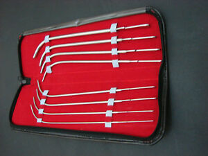Van Buren Sound Urethral Set Of 8 Medical Instruments From 8fr 10fr To 22fr