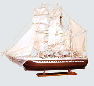 Massive 57 Long Rigged Triple Masted Sailing Ship Model