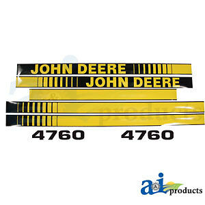 Compatible With John Deere Decal Set Hood Jd4760 4760