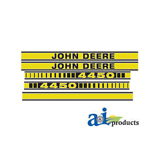 John Deere Parts Decal Set Jd4450 4450
