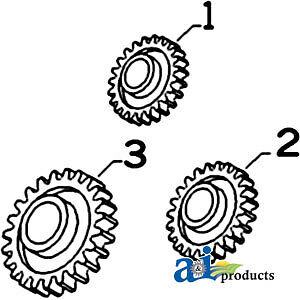John Deere Parts Gear Lower At24252 380 350a 301a 300b 300a 300 300a