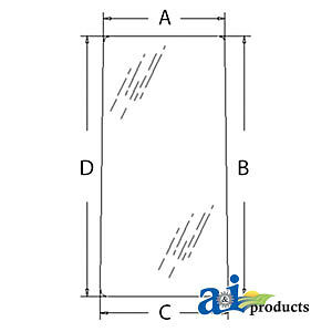 Compatible With John Deere Glass Rear lh 4369556 80 750 550lc 450lc 370 330
