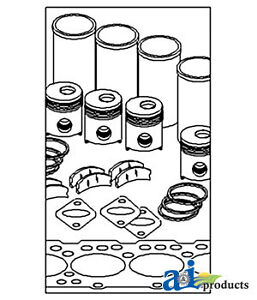 John Deere Parts Major Overhaul Kit Ok6163 4000 sn 214999 4020 sn 214999