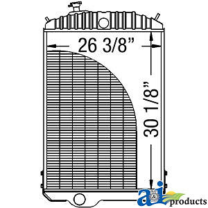 John Deere Parts Radiator Re21895 4840