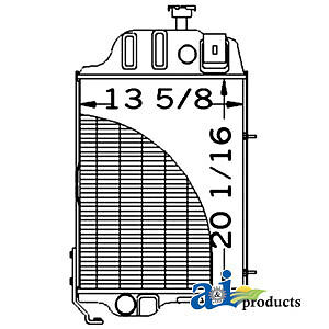 John Deere Parts Radiator At32527 310 310a 310b 401d