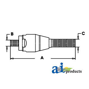 Compatible With John Deere Tie Rod Al68253 3650 3640 3350 3255 3155 3150 3140 30