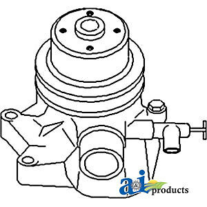 John Deere Parts Water Pump L Back Plate At12862 1010 crawler Gas Sn 1001 2