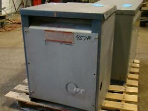 General Electric Transformer 45kva 480vx208 120v 9t23a3873
