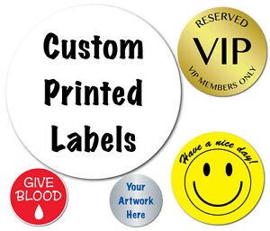 1 Inch Circle Custom Printed Labels Peel Stick Roll Of 250 Stickers