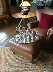Huge 38 Sterling Silver Tray With Tea Set