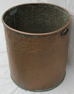 Fabulous Large American Early 19th Century Antique Copper Kettle With Handles