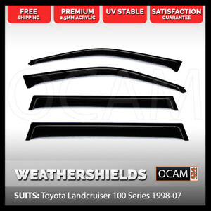 Ocam Weathershields For Toyota Landcruiser 100 Series 1998 07 Window Visors
