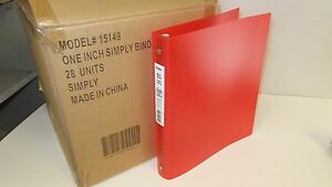 Case Of 28 One Inch Simply Binder Red Binders Flexible 200 Sheets 15149