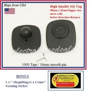 1000 Eas Anti Theft Checkpoint Compatible Rf 8 2mhz Security Tag Pin Bonus