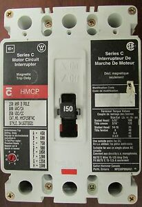 Cutler Hammer Hmcp150t4c 3p 150a Motor Circuit Protector French Canadian Label