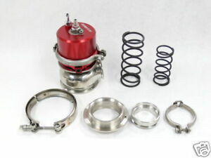 Obx Sports 60mm Wastegate External Wg60 V band Red New