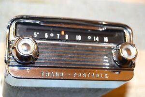 Oldsmobile Olds 989131 Trans Portable Am Radio 1958 58 Pro Serviced Very Clean