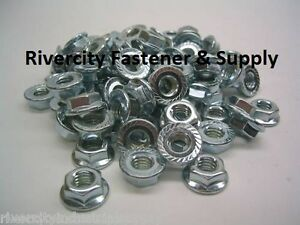 300 1 4 28 Serrated Hex Flange Nuts Flange Lock Nuts Or Spin Wiz Nuts Zinc