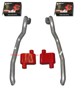 86 93 Ford Mustang Gt Exhaust System W Cherry Bomb Extreme Mufflers