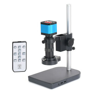 14mp Hdmi Usb Industry Microscope Kit Camera Set Remote Control 100x C mount Len