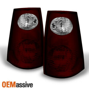 Fit 01 05 Ford Explorer Sport Trac Dark Red Tail Lights Replacement