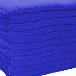 100 Dark Blue Microfiber Towel New Cleaning Cloths 16x16 300 Gsm Thick