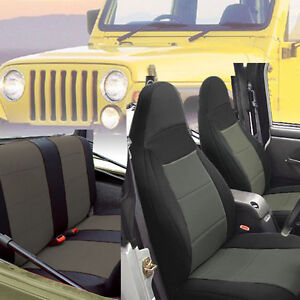 1997 2002 Jeep Wrangler Tj Custom Neoprene Seat Covers Full Set Gray Tj127g