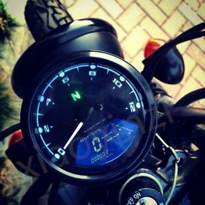 12000rpm Lcd Digital Odometer Speedometer Tachometer For Motorcycle Scooter