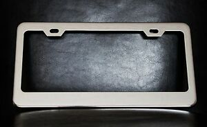 Personalized License Plate Frame Custom Made Of Chrome Plated Metal
