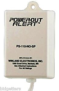 Sensaphone Powerout Alert Model Ps 110 Plugs Into Any 110 Vac Receptacle Outlet