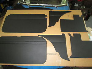 New 6 Piece Interior Panel Set With Door Panels Mgb 1962 1965 Black Made In Uk