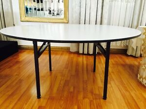 Lot Of 5 60 Round Wood Folding Banquet Table