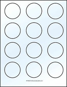 Glossy White Round Stickers 2 Inch Inkjet Printable Label 50 Sheets 4198jg