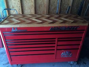 67 Macsimizer Tool Box With Custom Herring Bone Butcher Block