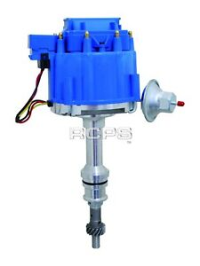 New Blue Cap Hei Distributor For Ford V8 302 5 0l Efi To Carburator Conversion