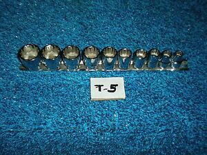 Husky Socket Set 10 Pc 3 8 Sae Set T 5