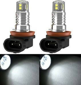 Led 30w H9 White 6000k Two Bulbs Head Light High Beam Replace Show Off Road