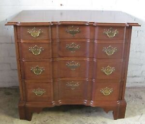 Mahogany Chippendale Antique Style Block Front Dresser Bachelors Chest Goddard