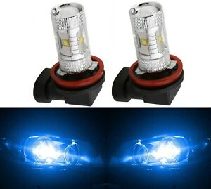 Led 30w H11 Blue 10000k Two Bulbs Head Light Low Beam Replace Off Road Lamp