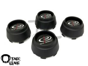 Rota Wheels Center Caps Flat Black 4pcs Replacement Set P45r P45 Rb