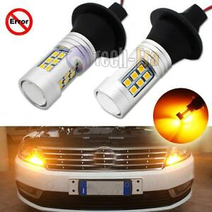 Amber No Resistor Require 7440 2835 Led Bulbs For Front Rear Turn Signal Lights