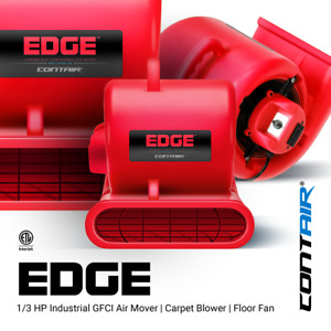Contair Edge Air Mover Carpet Dryer Blower Floor Fan High Cfm Red Color