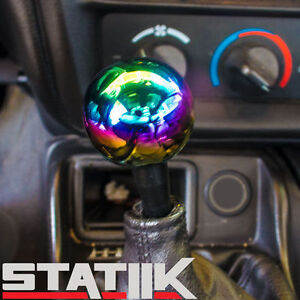 Heavy Neo Chrome Weighted 10x1 5 Jdm Manual Round Ball Shift Knob For Honda