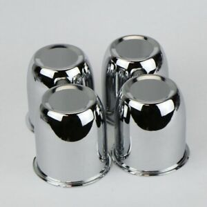 4 Chrome 3 25 Center Caps For 5 Lug Trailer Wheel Rims 3 25 Center Bore