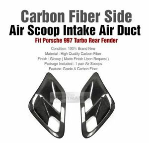 Carbon Fiber Rear Fender Air Scoop Intake Air Duct For Porsche 991 Turbo 997