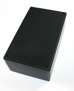 Abs Black Plastic Project Box 2 62 X 7 44 X 4 44 Lot Of 10