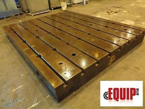 T slotted Floor Plate 10 Ft X 8 Ft X 12 In Boring Mill Machine Milling Cnc Lathe