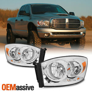 Fit 2006 2008 Ram 1500 06 09 2500 3500 Pickup Headlights 06 07 08 Left Right