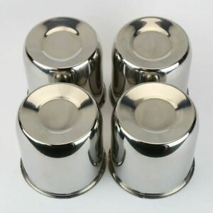 4 Chrome Steel Center Caps Push Thru For Trailer Wheel Rims 4 25 Center Bore